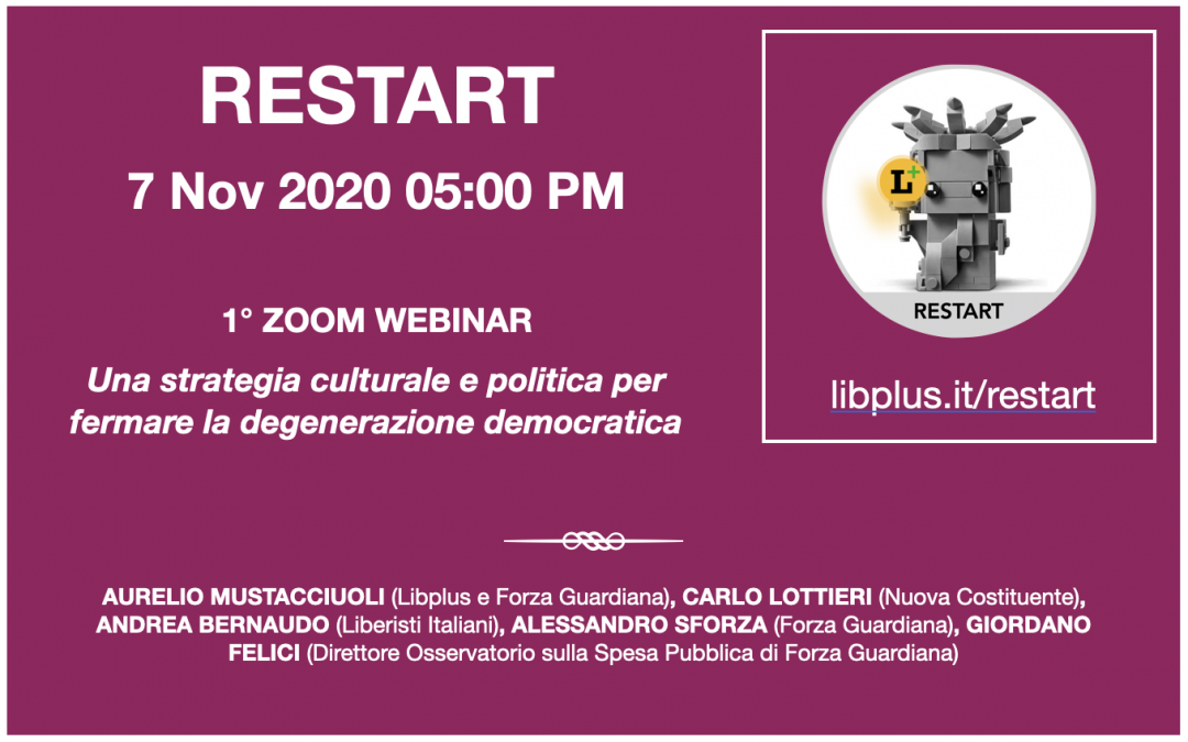 RESTART: inizia il 7/11 l'Open Conference promossa da libplus.it